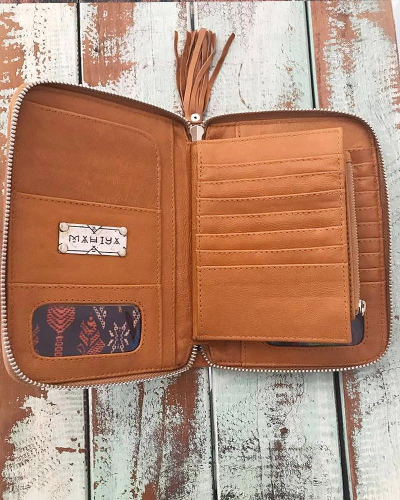 leather boho wallets