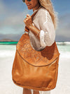 Ophelia Leather Boho Bag - Tan