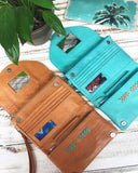 womens travel leather wallets