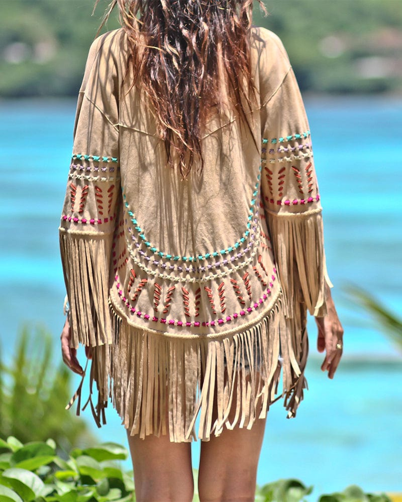 Earth Angel Suede Poncho