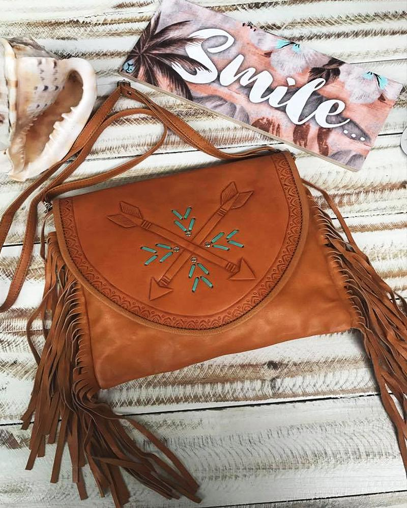 tan leather festival handbag