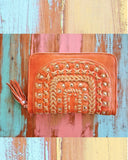 Tallara Autumn Wallet - Rust / Chocolate / Rust / Tan 5