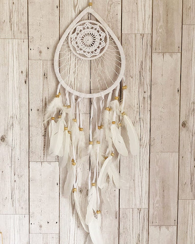 Medium Tear Drop Crochet Dream Catcher