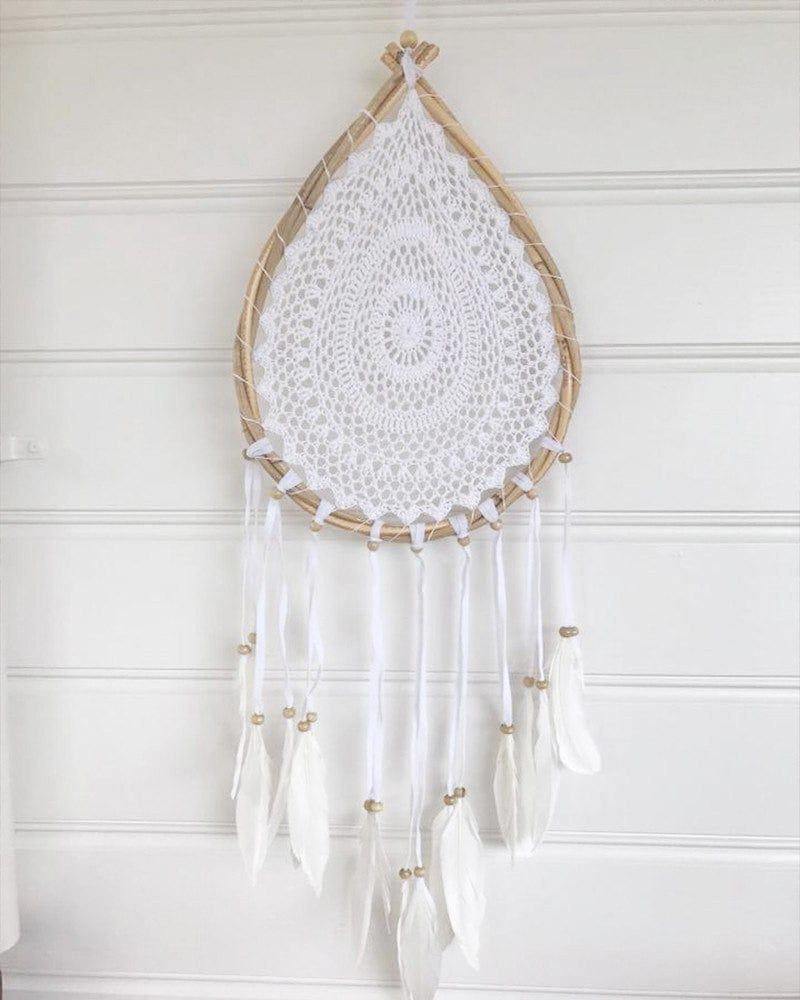 tear drop crochet dream catcher