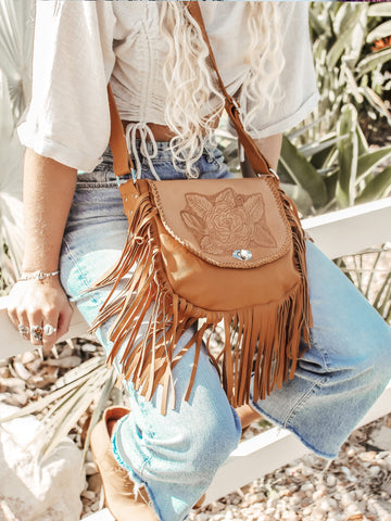 Capsize Leather Bag Fringe Free