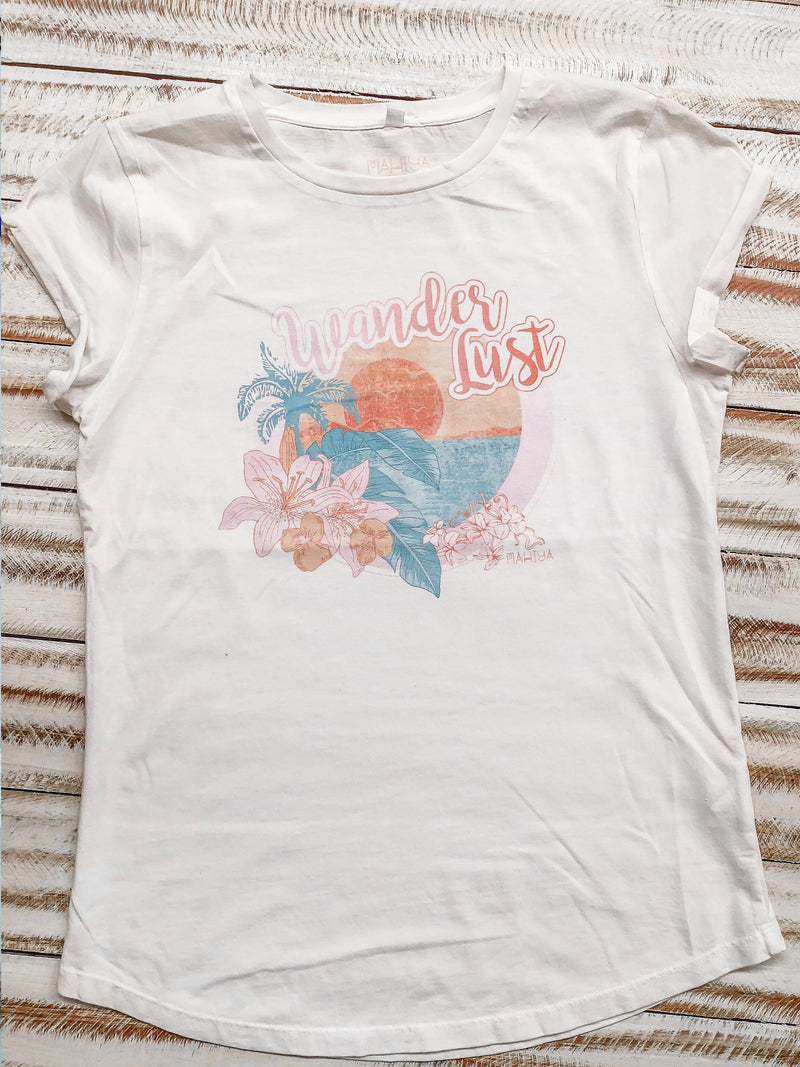 Wanderlust Sunset Organic Cotton Tee