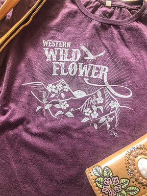 Western Wild Flower Organic Cotton Tee