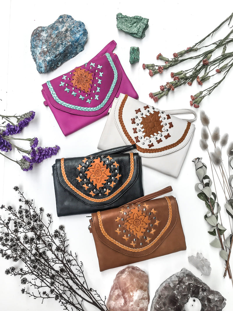 Wild Flower Leather Wallet