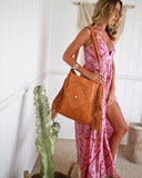 tan leather tote bag