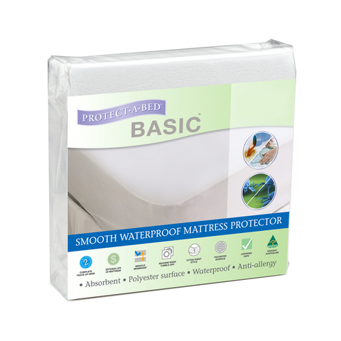 Satin Smooth Cotton Terry Towelling Fitted Mattress Protector