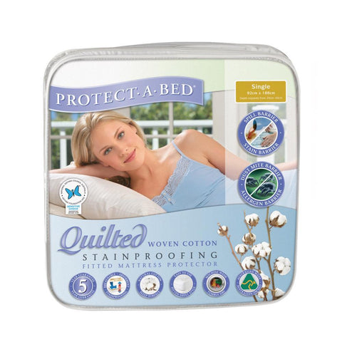Cotton Quilted Mattress Protector - Single