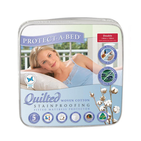 Cotton Quilted Mattress Protector - Double