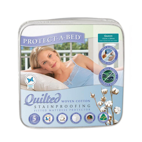 Cotton Quilted Mattress Protector - Queen