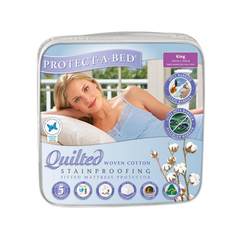 Cotton Quilted Mattress Protector - King