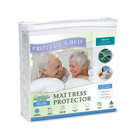 Comfortshield® Deluxe Cotton Terry Towelling Fitted Mattress Protector