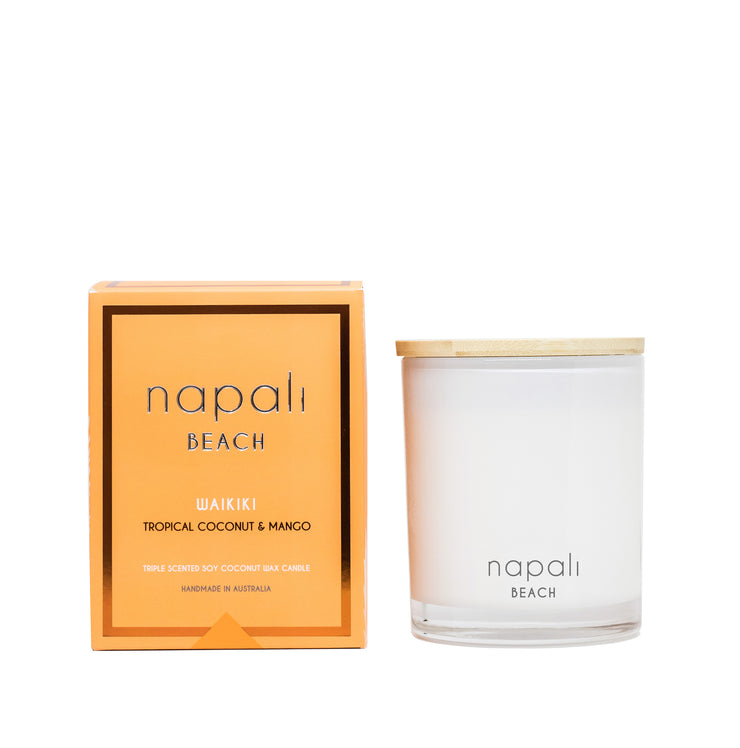 Napali Waikiki Candle- Tropical coconut & Mango 160g