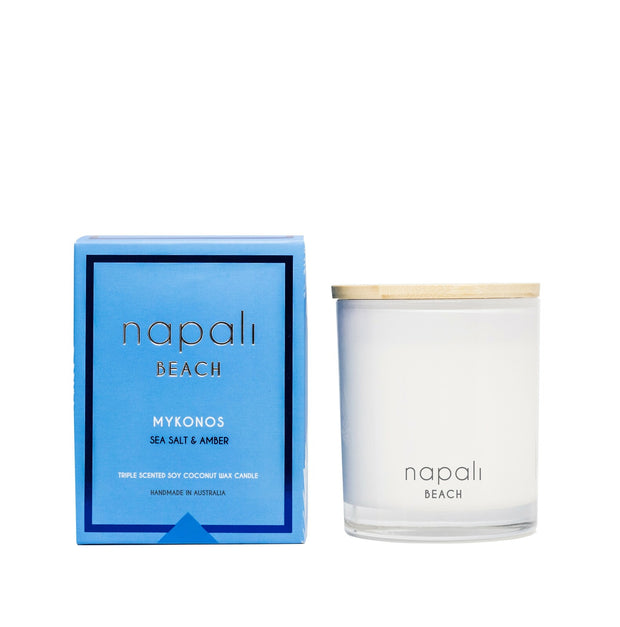 Napali Mykonos Candle- Sea salt & Amber 400g