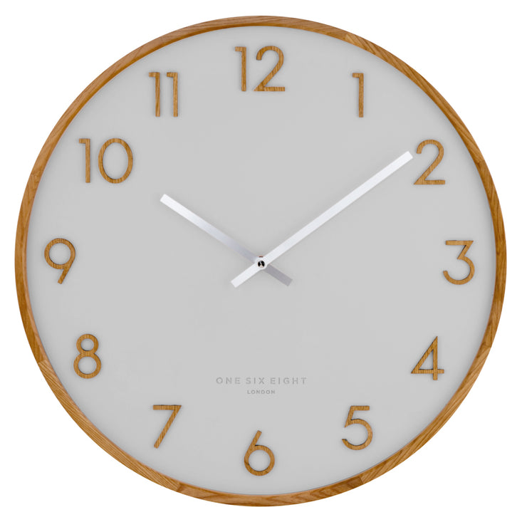 Scarlette clock 50cm -cool grey
