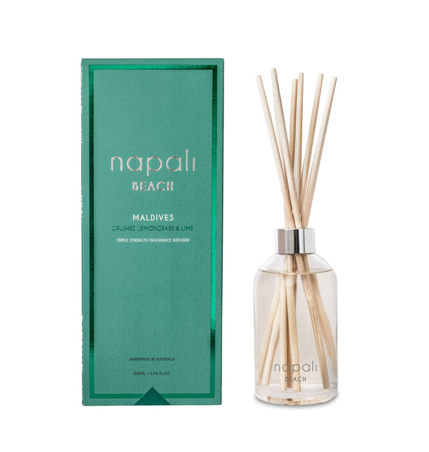 Napali Maldives Diffuser- Crushed Lemongrass & Lime 200ml