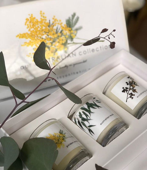 Australian collection -Soy on the Hill candles