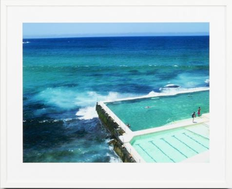 Bondi baths framed print