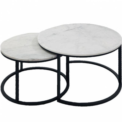 EDDIE COFFEE TABLES SET OF 2 BLK