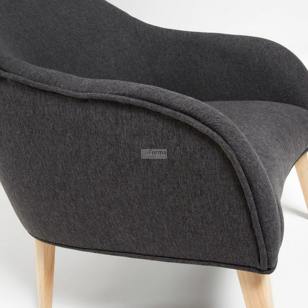 Lobby armchair grey