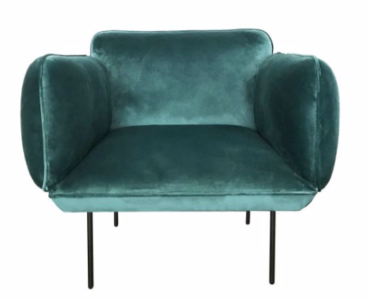 Ladonna Chair Green velvet