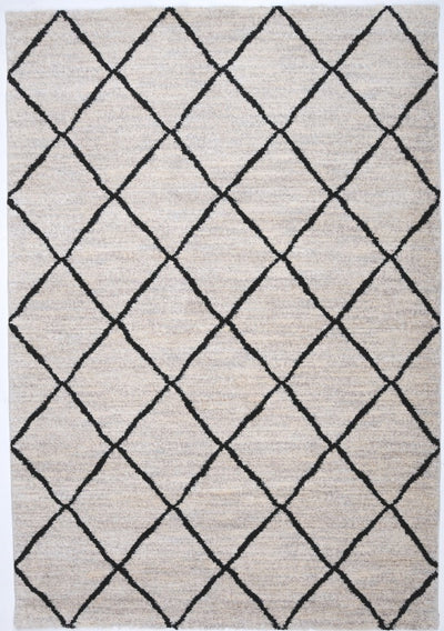 Trend lattice rug cream 165x235cm