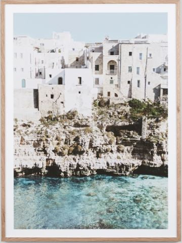 Amalfi village framed print