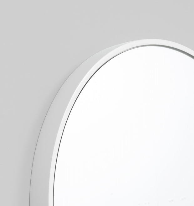 Bella round white mirror 80cm