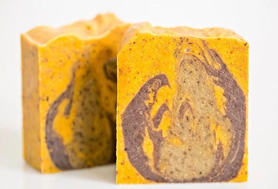 Sandalwood and citrus scrub soap