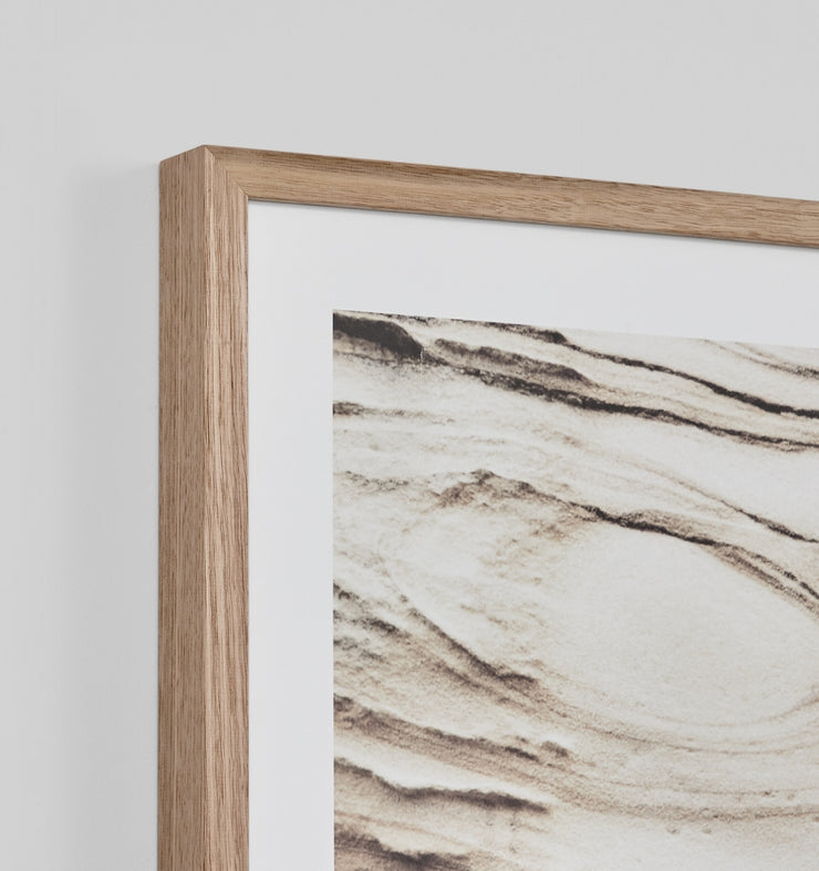 Coastal formation framed print