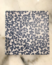 Single Dolomite Coaster- Indigo vine