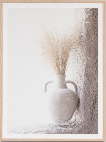 Country vase framed print