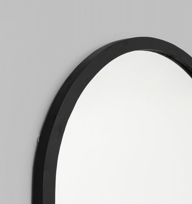 Cove arch mirror leaner black