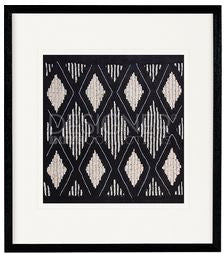 Black and white Geometric beaded frame