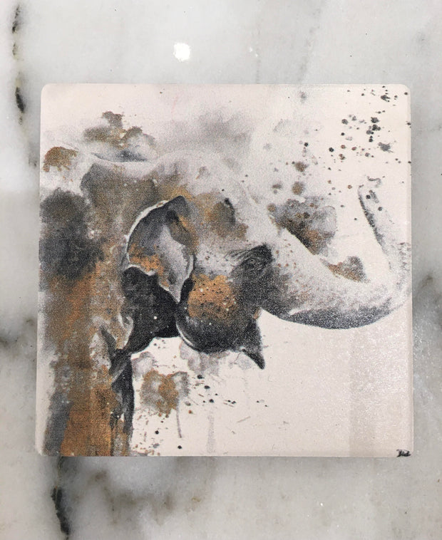 Single Dolomite Coaster- Water Elephant