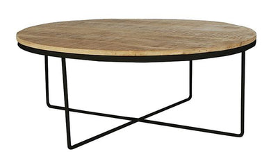 Flinders round coffee table black