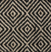 Herman diamond rug- black and white