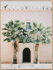 Moroccan entrance framed canvas