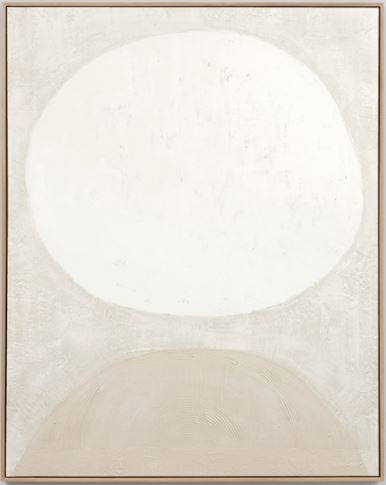 Sculpture white 2 framed painting
