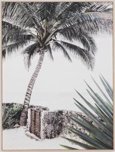Island gate framed canvas 75x100cm