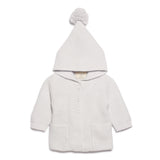 Wilson & Frenchy Glacier Grey Knitted Jacket with Hood