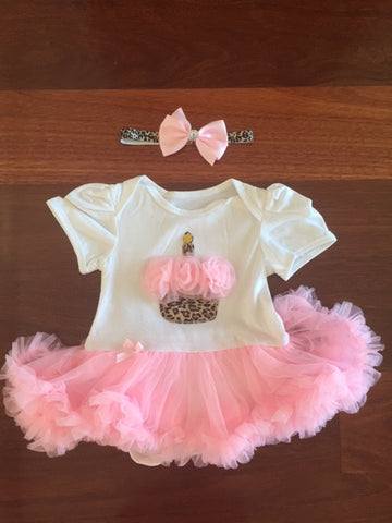 Funkybubba Onsie with Birthday Cake & Tutu Skirt