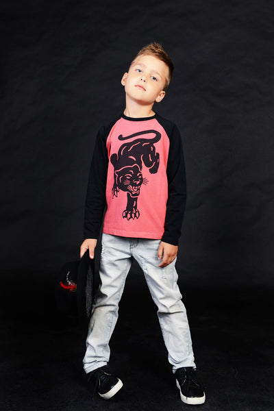 Rock Your Kid Inked Panther Long Sleeve T-Shirt