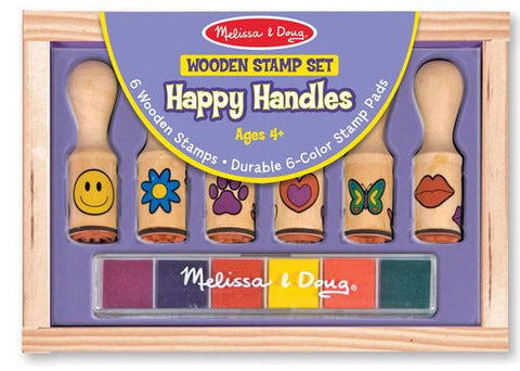 Melissa & Doug Happy Handles Wooden Stamp Set