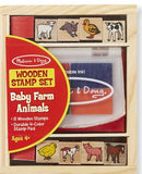 Melissa & Doug Wooden Stamp Set Baby Farm Animals