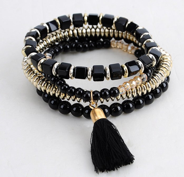 Bohemian Ethnic Multilayer Beaded Bracelet