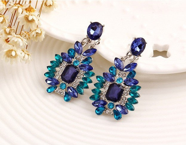Crystal Fine Statement Jewelry Long Earrings